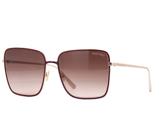 Tom Ford Heather Ft0739 69f Sunglasses Red Gold Frame Brown Gradient Lenses 60mm
