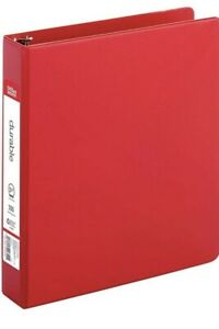 Office Depot Durable 3 ring Binder 1 1 2 Round Rings Red Brand New