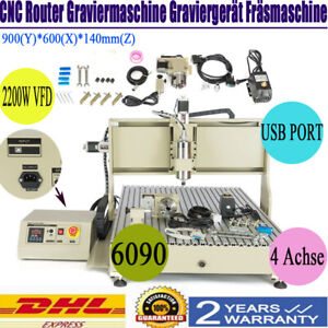 4axis Cnc6090 Usb Router Engraver Metal Carving Milling Machine 2 2kw controller