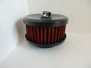 Black 4 18 Open Air Cleaner Withred Element 1 2 Bbl Hot Rod Rat Rod 2170bkrd