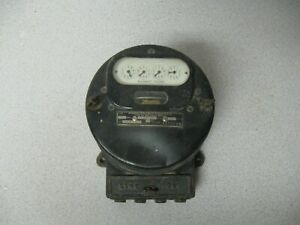 Vintage Westinghouse Watthour Meter Type Oa 25 Amp 100 200 Volt 60 Cycle 3 Wire