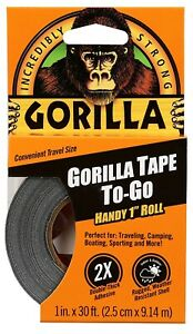 Gorilla Tape Handy Roll Double thick Adhesive 1 pack black Tough