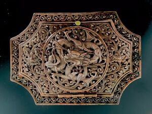 Ornate 19thc Chinese Repousse Copper Incense Box Made For The Persian Market
