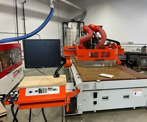 Omnitech Chief Fanuc Cnc Router By Anderson 5x12 Table With 2 Becker Pumps