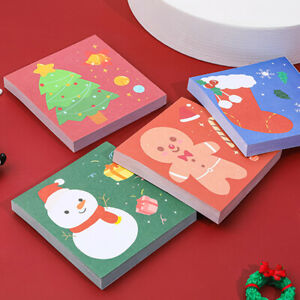 Supplies Cute Stocking Memo Memo Pad Christmas Sticky Notes Message Notepad