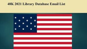 48k Usa Library 2021 Email Database Sales Leads List Marketing