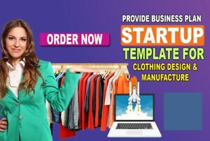 Clothing Design And Manufacturing Startup Business Plan Template