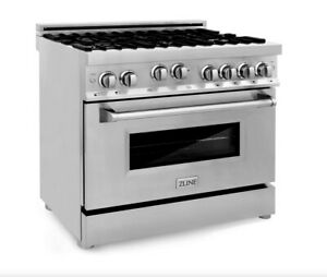 Zline 36 Professional 4 6 Cu Ft 6 Gas On Gas Range In Stainless Steel rg 36