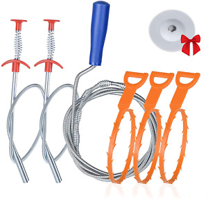 6 1 Drain Clog Remover Tool Sink Snake Cleaner Drain Auger Sewer Toilet Dredge