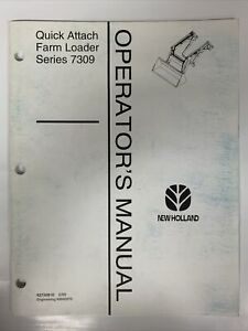 New Holland Operator s Manual Quick Attach Farm Loader Series 7309