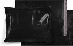 Poly Mailers Shipping Envelopes Black Self Sealing Plastic Mailing Bags 3 2 Mil