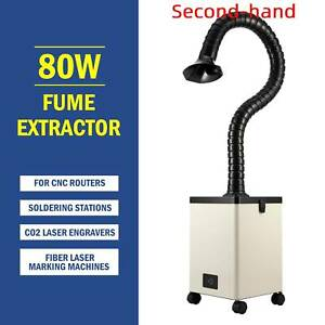 Secondhand 80w Pure Air Fume Extractor Smoke Purifier 3 Filter For Laser Cutter