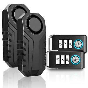 Loud 113db Wireless Anti theft Vibration Motorcycle Bike Security Alarm Remote 2