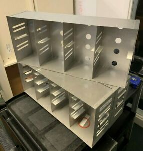Used Stainless Steel Freezer Rack L 21 5 x W 5 1 4 x H 9 5 Adjustable Shelves