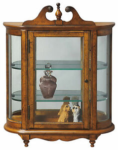 Westbrook Wall Mounted Curio Cabinet Vintage Oak Finish Free Shipping