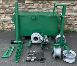 Greenlee 640 Tugger 4000lb 4k Cable Wire Puller Setup great Shape 2