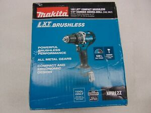Makita 18v Lxt Compact Brushles 1 2 Hammer Drill Tool Only Xph12z m347