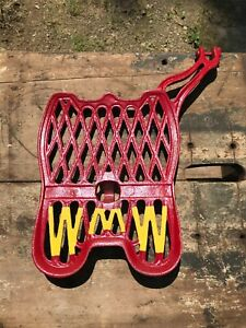 Wmw Large Foot Pedal Antique Tractor Parts Farm Advertising Cast Iron Red