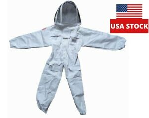 X small Children s Cotton Bee Suit With Great Full Protection Detachable Veil