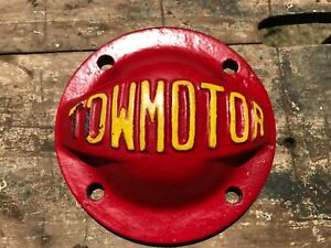 Towmotor Antique Tractor Parts Farm Advertising Cast Iron Red Dome Cover