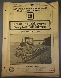 Mckee Bros Ltd Base 3a 3 Point Hitch Multi Purpose Spring Tooth Field Cultivator