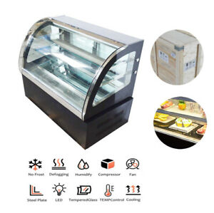 220v Refrigerated Cake Showcase Pastry Bakery Display Case Space Saving Device