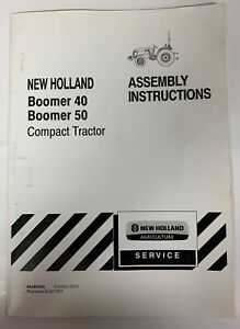 New Holland Assembly Instructions Boomer 40 Boomer 50
