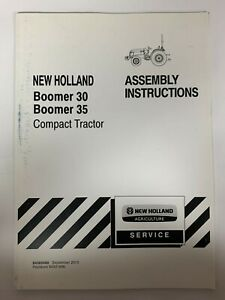 New Holland Assembly Instructions Boomer 30 Boomer 35