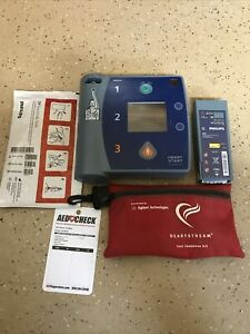 Philips Heartstart Fr2 Aed Defibrillator Old Pads And Battery Tested Works