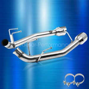 2 5 Inch Exhaust System Axle Cat Back For 11 14 Ford Mustang V6 3 7l 4 In Tips