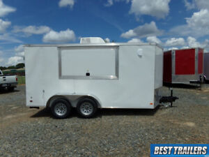 2021 Covered 7x14 Concession Vending Food Truck Trailer Sinks Power Ac Enclosed