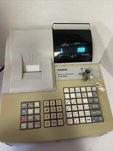 Casio Pcr 265a Electronic Cash Register W Keys Cash Drawer Coin Compartment