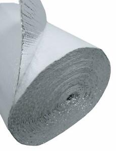 White Faced Double Bubble Reflective Foil Thermal Insulation 400sqft R8 4ft