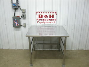 37 X 33 Stainless Steel Heavy Duty Kitchen Work Table W Insulated Top