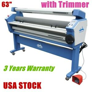 Usa 63 Full auto Wide Format Cold Laminator Heat Assisted With Trimmer
