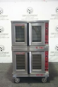 Blodgett Double Stacked Full Size Electric Convection Oven On Casters Model Mark