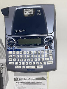 Brother P touch Pt 1880 Label Maker Pre owned With Clear Laminated Tape Tested