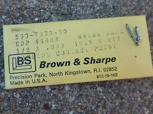 Brown Sharpe Contact Point Carbide 1 2 599 7030 80 Plus Addl Contact Point