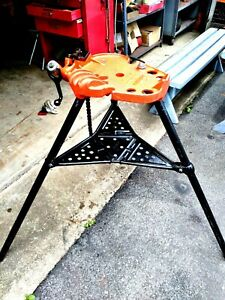 Ridgid Model No 450 Tristand 1 8 To 5 Portable Chain Pipe Threading Vise Stand