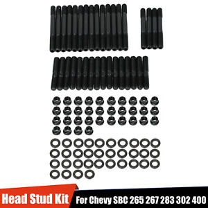 Cylinder Head Stud Kit For Chevy Small Block Sbc 265 267 283 302 400 134 4001