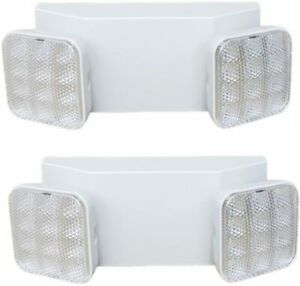 7leds Led Emergency Exit Light Two Head With Battery Back up Ul 924 Pack 2