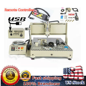 Usb 4 Axis Cnc 6090 Router Engraver Woodworking Machine With Controller 2 2kw