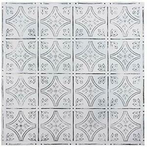 Holydecot Tin Wall Tiles 24x24 Nail Up Stair Risers Metal Ceiling Tiles 5 Pac
