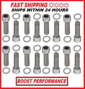 Big Block Chevy Bbc Intake Manifold Bolts Stainless Steel Gm 396 402 427 454