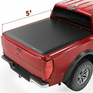 Oedro 5ft Vinyl Soft Roll Up Truck Bed Tonneau Cover For 2019 2022 Ford Ranger
