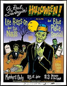 Lee Press On amp; The Nails Concert Poster Seattle Halloween 98 Ward Sutton DOODLED $155.00