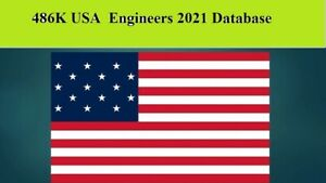 486k Usa Engineers 2021 Email Database Sales Leads List Marketing
