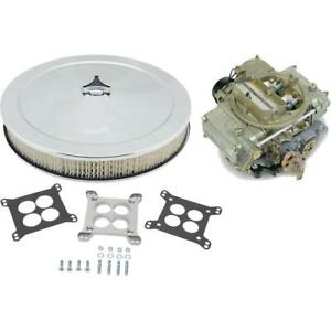 Holley 0 8007 390cfm Carburetor W Adapter And 14 Inch Filter Kit