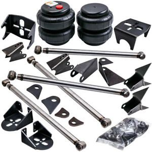 Weld On Triangulated 4 Link Kit 2500 Spring Bags Air Ride Suspension 2 75 Axle