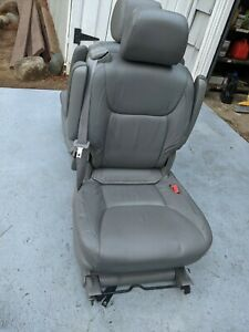 Pair Of Leather Adjustable Gray 2nd Row Captain Seats For 2004 Toyota Sienna Fits Toyota